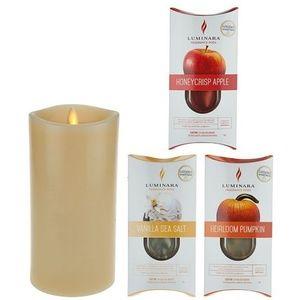LUMINARA FLAMELESS CANDLE W/2 FRAGRNCE CARTRIDES